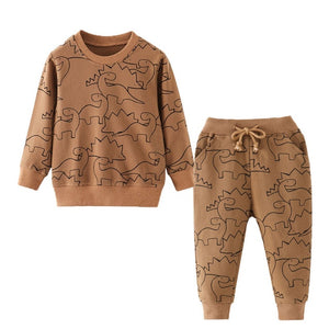 Jumping meters Baby Boys Clothing Sets Autumn Winter Boy Set Sport Suits For Boys Sweater Shirt Pants 2 Pieces Sets children - shopbabyitems