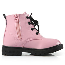 Load image into Gallery viewer, Leather Botas Boys Girls Waterproof Plush Snow Boots Toddler Sneakers Boots - shopbabyitems