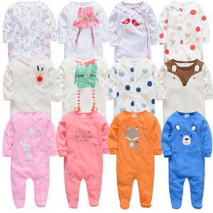 Baby Girl Rompers Long Sleeve Infant Boy Autumn Winter Jumpsuits - shopbabyitems