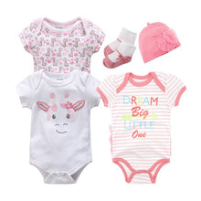 Load image into Gallery viewer, Cotton Cartoon Baby Girl Boy Clothes Set Short Sleeve Summer Infant Girl Dress Suit - shopbabyitems