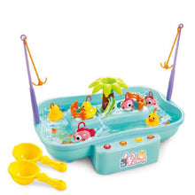 Load image into Gallery viewer, Kids Fishing Toys Electric Water Cycle Music Light Baby Bath Toys Child Game Play Fish Outdoor Toys Fishing Games For Children - shopbabyitems