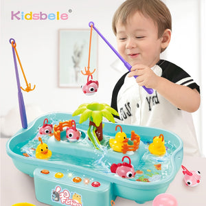 Kids Fishing Toys Electric Water Cycle Music Light Baby Bath Toys Child Game Play Fish Outdoor Toys Fishing Games For Children - shopbabyitems