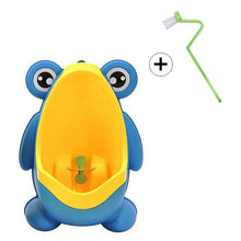 Load image into Gallery viewer, Kids Frog Potty Toilet Urinal Pee Trainer Wall-Mounted Toilet Pee Trainer - shopbabyitems
