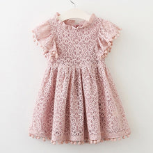 Load image into Gallery viewer, Kids Girl Ball Gown Dress NEW White Toddler Girl Summer Lace Dress  8 9 10Year Princess Birthday Party Dress Children Clothing - shopbabyitems