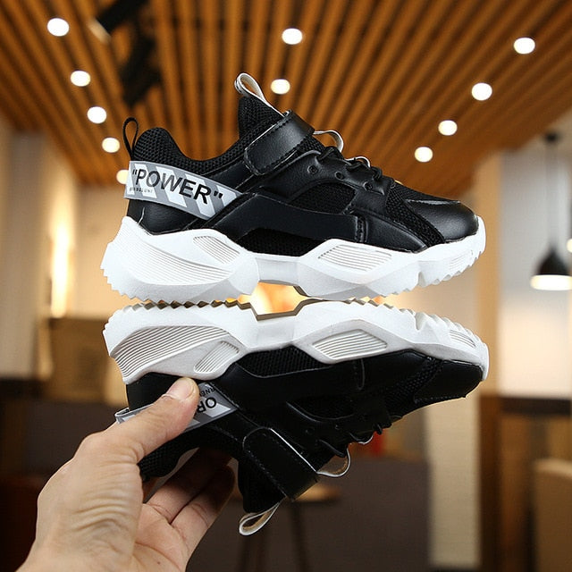 Kids Leather Shoes Girls Sport Sneakers Children Mesh - shopbabyitems