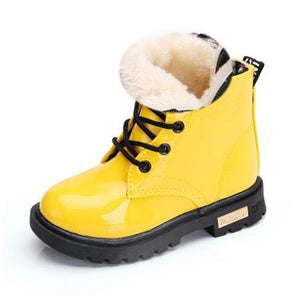 Kids Shoes girls Boys PU Leather Lace Up High Children Sneakers girl Baby Shoes Sport Autumn Winter Children Shoes - shopbabyitems