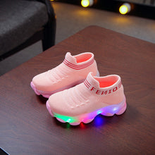 Load image into Gallery viewer, Led Luminous Socks Sport Run Sneakers Shoes Sapato Infantil Light Up Shoes - shopbabyitems