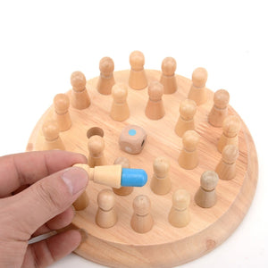 Kids party game Wooden Memory Match Stick Chess Game Fun Block Board Game Educational Color Cognitive Ability Toy for Children - shopbabyitems