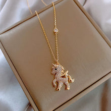 Load image into Gallery viewer, Korean Personality Simple Rhinestones Unicorn Pendant Necklace Temperament Sweet Girl Women Fashion Jewelry Accessories - shopbabyitems