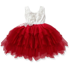 Load image into Gallery viewer, Lace Little Princess Dresses Summer Solid Sleeveless Tulle Tutu Dresses For Girls 2 3 4 5 6 Years Clothes Party Pageant Vestidos - shopbabyitems