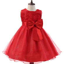 Load image into Gallery viewer, Lace Princess Girl Dress For Girls Christmas Birthday Party Clothing Kid Wedding Red Flower Dresses Children Winter Prom Costume - shopbabyitems