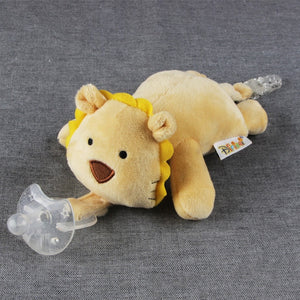 Large doll Baby Boy Girl Dummy Pacifier Chain Clip Plush Animal Toys - shopbabyitems
