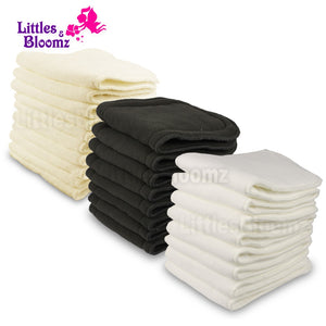Reusable Washable Inserts Boosters Liners For Real Pocket Cloth Nappy Diaper microfibre bamboo charcoal insert - shopbabyitems