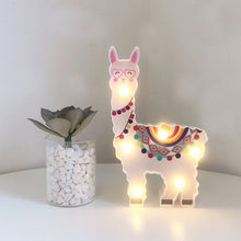 Load image into Gallery viewer, Llama Decor Toys for Kids Wall Decoration Night Lamp for Pregnant Woman, Kids, Baby Shower, Nursery, Battery Operated Nightlight - shopbabyitems