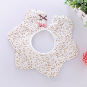 Lovely Flower Style Baby Waterproof Bibs Rotating Double Cotton Fashion Pattern Striped Star Bibs - shopbabyitems