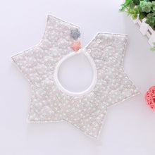 Load image into Gallery viewer, Lovely Flower Style Baby Waterproof Bibs Rotating Double Cotton Fashion Pattern Striped Star Bibs - shopbabyitems