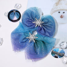 Load image into Gallery viewer, Christmas Snowflake Hair Accessories Crystal Hair Clips - shopbabyitems