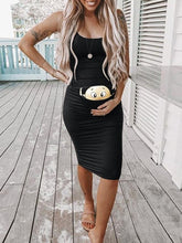 Load image into Gallery viewer, Maternity Dresses For Photo Shoot Sleeveless Dresses Cartoon Printed Cute - shopbabyitems