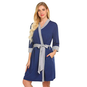 Maternity Nursing Robe Delivery Nightgowns Hospital Breastfeeding Gown clothes - shopbabyitems