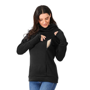 Maternity Sweatshirt Women Nursing Maternity Long Sleeves Hooded Breastfeeding Hoodie - shopbabyitems