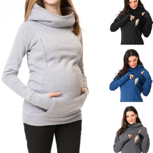 Load image into Gallery viewer, Maternity Sweatshirt Women Nursing Maternity Long Sleeves Hooded Breastfeeding Hoodie - shopbabyitems