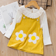 Load image into Gallery viewer, Cute Girls Long Sleeve T-shirt Tops Cartoon Giraffe Dress 2pcs Suit - shopbabyitems
