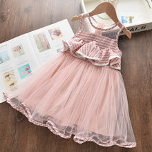 Load image into Gallery viewer, Girls Dresses New Sweet Princess Dress Baby Kids Girls Clothing Wedding Party Dresses Children Clothing Pink Applique - shopbabyitems