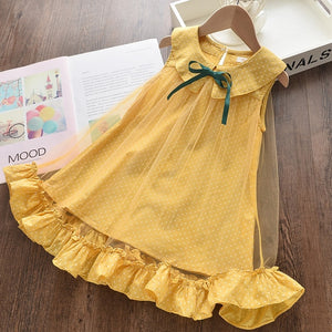 Girls Dresses New Sweet Princess Dress Baby Kids Girls Clothing Wedding Party Dresses Children Clothing Pink Applique - shopbabyitems