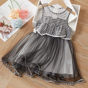 Sleeveless Lace Princess Dress 3-7Y Baby Kids Bow Dress Summer - shopbabyitems