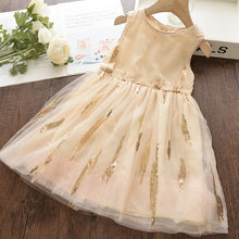 Load image into Gallery viewer, Sleeveless Lace Princess Dress 3-7Y Baby Kids Bow Dress Summer - shopbabyitems