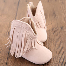 Load image into Gallery viewer, Moccasin Moccs Newborn Baby Girl Boy Kids Prewalker Solid Fringe Shoes - shopbabyitems