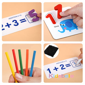 Montessori Toys For Children Mathematics Kids Early Educational Counting Wooden Sticker Kids Toy Number Cognition Birthday Gift - shopbabyitems
