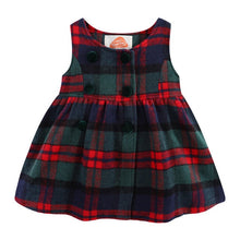 Load image into Gallery viewer, Little Girls Sleeveless Dress Faux Wool Cute Plaid Kids Dress Winter Girls Clothes - shopbabyitems