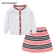 Load image into Gallery viewer, Winter Toddler Girls Clothes Set Long Sleeve Sweater Cardigan Skirt Striped Dress Outfits for Kids Girls Clothes - shopbabyitems