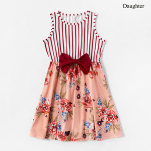 Mom and daughter dress Rosette Floral Sweet Cute Girl Dress Baby Girl Romper - shopbabyitems