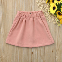 Load image into Gallery viewer, Toddler Infant Baby Girls Botton Solid Skirt - shopbabyitems
