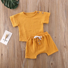 Load image into Gallery viewer, New 0-24M Baby Girls Boys Botton Clothes Outfits Cotton Summer Kids Short Sleeve Tops T-Shirts+Shorts Suits - shopbabyitems