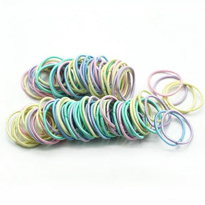 New 100PCS/Lot Girls Candy Colors Nylon 3CM Rubber Bands - shopbabyitems