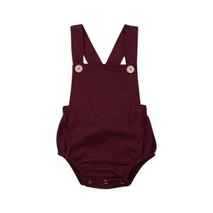 New 2020 Infant Newborn Baby Boys Girls Romper Summer Cotton Sleeveless One-pieces Suspender Jumpsuits Cotton Clothes Outfits - shopbabyitems