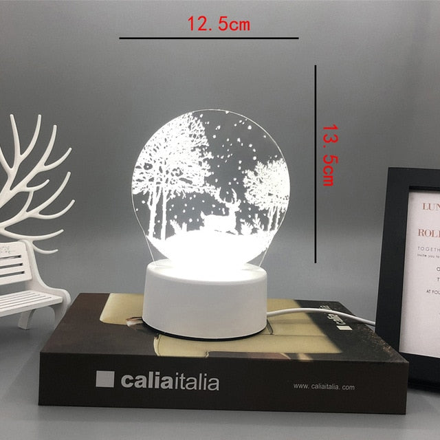 New Acrylic The neon lights 3D stereo Night light Small table lamp Bedside lamp LED lamp Birthday festival children decorate - shopbabyitems