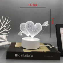 Load image into Gallery viewer, New Acrylic The neon lights 3D stereo Night light Small table lamp Bedside lamp LED lamp Birthday festival children decorate - shopbabyitems