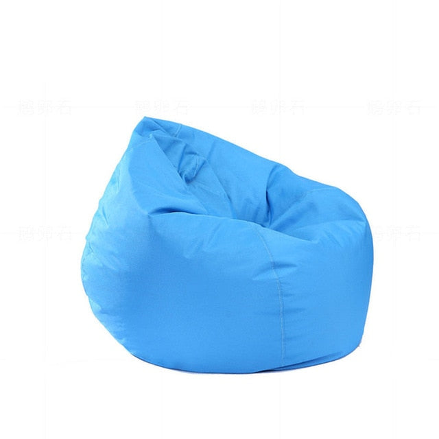 Bean Bag Oxford Chair Cover Zipper Beanbag Toys Soft Solid Causal Baby Seats Sofa - shopbabyitems