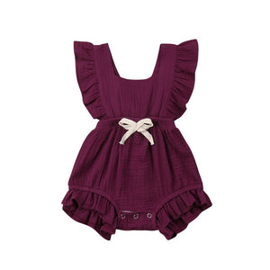 New Arrivels Baby Girls Ruffle One-Pieces Clothes Summer Newborn Kids Sleeveless Romper Jumpsuit Outfits Sunsuit - shopbabyitems