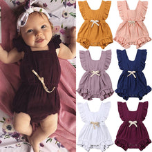Load image into Gallery viewer, New Arrivels Baby Girls Ruffle One-Pieces Clothes Summer Newborn Kids Sleeveless Romper Jumpsuit Outfits Sunsuit - shopbabyitems