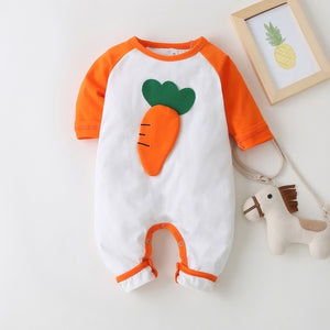 New Autumn Baby Newborn Baby Rompers Long Sleeve Line Dinosaur Tiger Cute Soft Clothes Boys Cotton Jumpsuit High Quality 0-24M - shopbabyitems