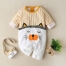 Load image into Gallery viewer, New Autumn Baby Newborn Baby Rompers Long Sleeve Line Dinosaur Tiger Cute Soft Clothes Boys Cotton Jumpsuit High Quality 0-24M - shopbabyitems