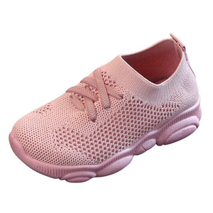 Fashion Children Flat Shoes Infant Kids Baby Girls Boys Solid Stretch Mesh Sport Run Sneakers Shoes - shopbabyitems