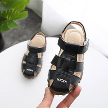 Load image into Gallery viewer, New Boys Sandals Soft Leather Closed-Toe Toddler Baby Summer Shoes Boys and Girls Children Beach Shoes Sport Kids Sandals - shopbabyitems