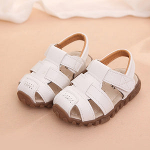 New Boys Sandals Soft Leather Closed-Toe Toddler Baby Summer Shoes Boys and Girls Children Beach Shoes Sport Kids Sandals - shopbabyitems