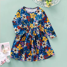Load image into Gallery viewer, New Dress for Girl Kids Children Clothing Cotton Colorful Floral Casual Printed O-Neck Princess Long Sleeve Dress Girls Dresses - shopbabyitems